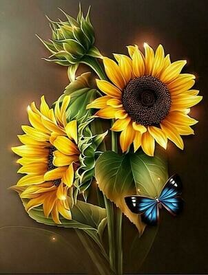2 Sunflowers - 40 x 50cm Full Drill (Square), Diamond Painting Kit - Currently in stock