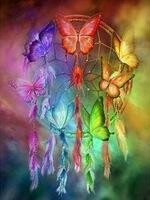 Butterfly Dream Catcher - 50 x 70cm - Full Drill (Round), Diamond Painting Kit - Currently in stock