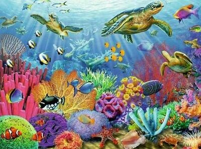 Under the Sea - 50 x 70cm - Full Drill (Round), Diamond Painting Kit - Currently in stock