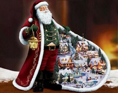 Father Christmas - 40 x 50cm Full Drill (Square), Diamond Painting Kit - Currently in stock