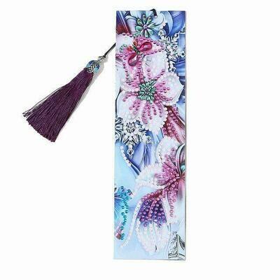 Diamond Painting Bookmark - FLOWER (delivery 4 - 6 weeks)