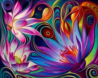 Paint by Number - Abstract Flower