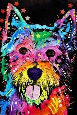 Paint by Number - Colourful Dog