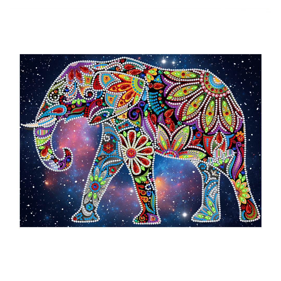 GLOW IN THE DARK Diamond Painting Kit - ELEPHANT
