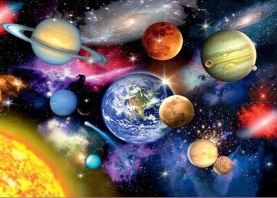 Solar System - 60 x 80cm  Full Drill (square) Diamond Painting Kit - Currently in stock