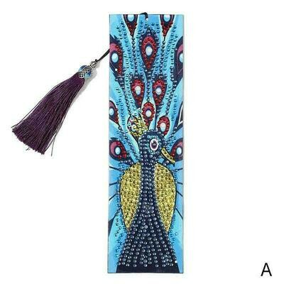 Diamond Painting Bookmark - Peacock (delivery 4 - 6 weeks)