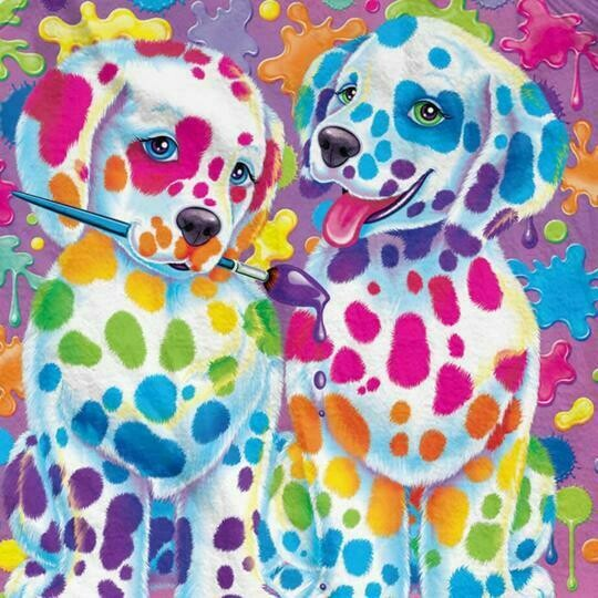 Rainbow Puppies - 30 x 30cm Full Drill (Square) Diamond Painting Kit - Currently in stock