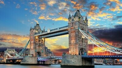 Tower Bridge  - 60 x 90cm - Full Drill (Round) Diamond Painting Kit - Currently in stock