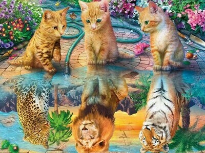 Kitten Dreams - 60 x 90cm - Full Drill (Round) Diamond Painting Kit - Currently in stock