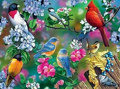 Lots Of Birds- 60 x 90cm- Full Drill (square) Diamond Painting Kit - Currently in stock
