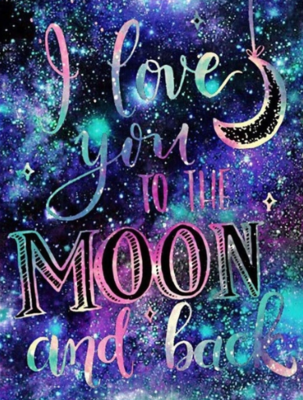 Love you to the Moon- 50 x 70cm - Full Drill (Round), Diamond Painting Kit - Currently in stock