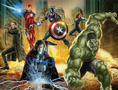 Action Heroes - 50 x 70cm - Full Drill (Square), Diamond Painting Kit - Currently in stock