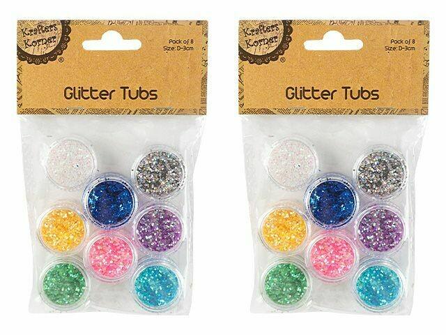 Glitter Tubs x 8