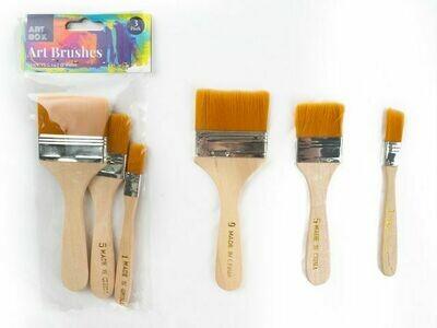 3 Pack Art Brushes