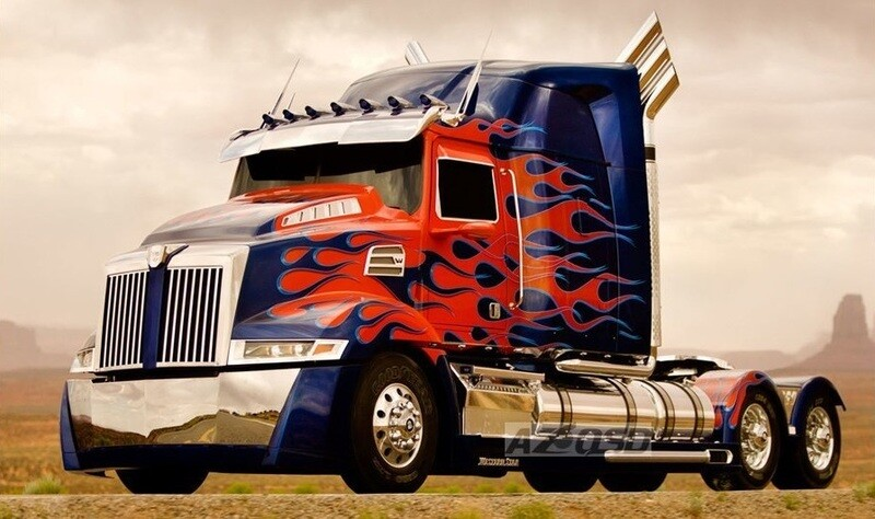 Blue and Red Truck - 40 x 50cm Full Drill (Round), Diamond Painting Kit - Currently in stock