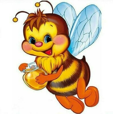 Honey Bee - 30 x 30cm Full Drill (Round) Diamond Painting Kit - Currently in stock