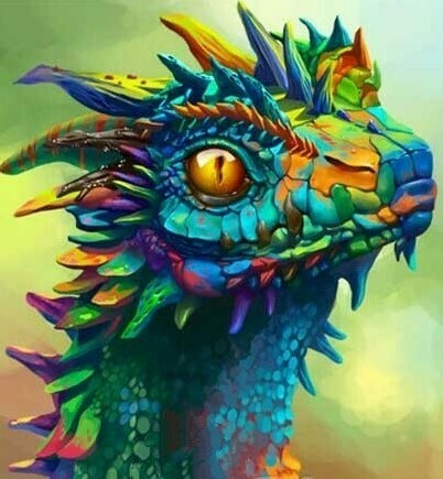 Colourful Dragon - 30 x 40cm Full Drill (Round) Diamond Painting Kit - Currently in stock