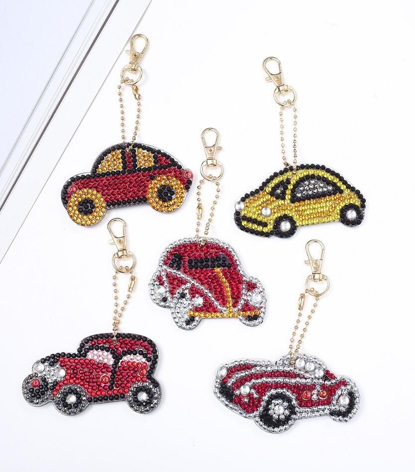 Diamond Painting Keychains - Cars - Set of 5