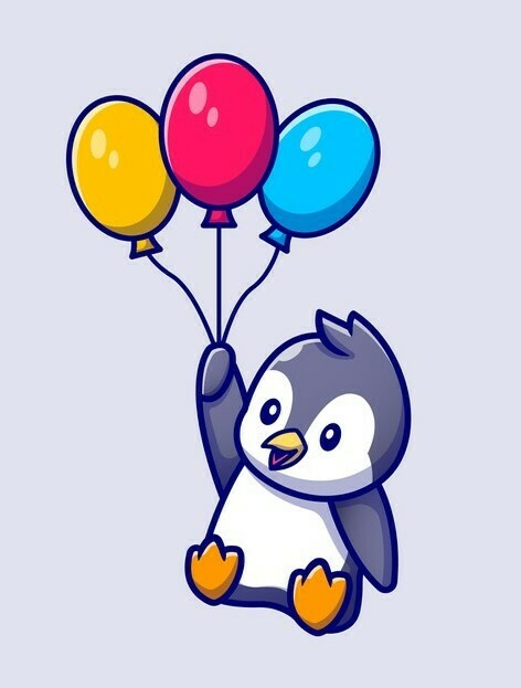 Party Penguin 20 x 25cm Full Drill (Round) Diamond Painting Kit - Currently in stock