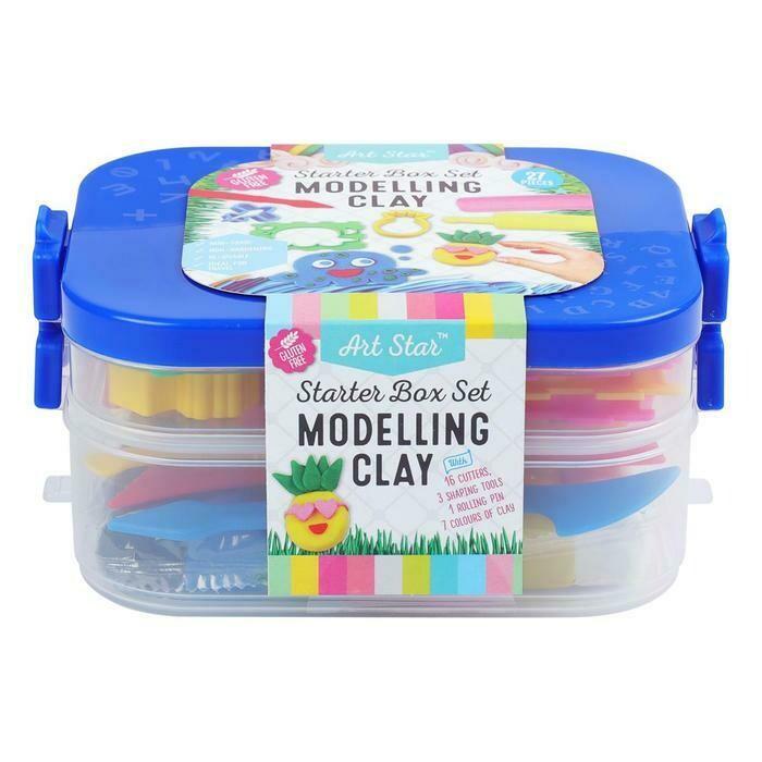 Art Star Modelling Clay / Plasticine Starter Box Set 27 Pieces