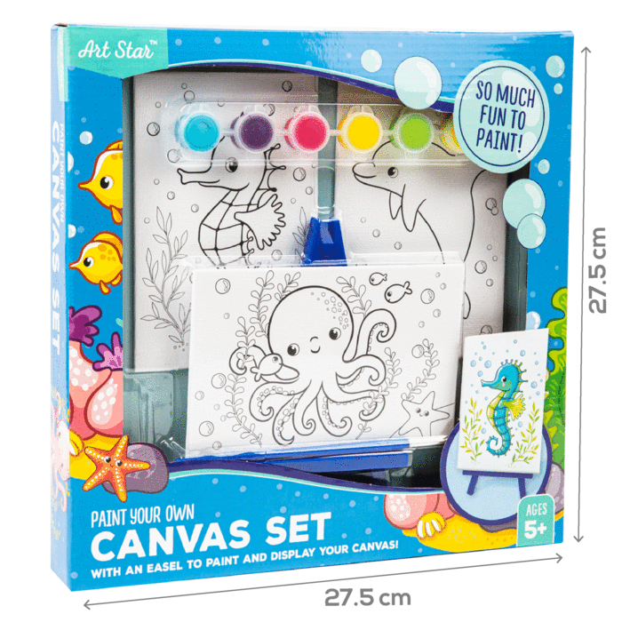 Art Star Canvas and Easel Set Makes 3