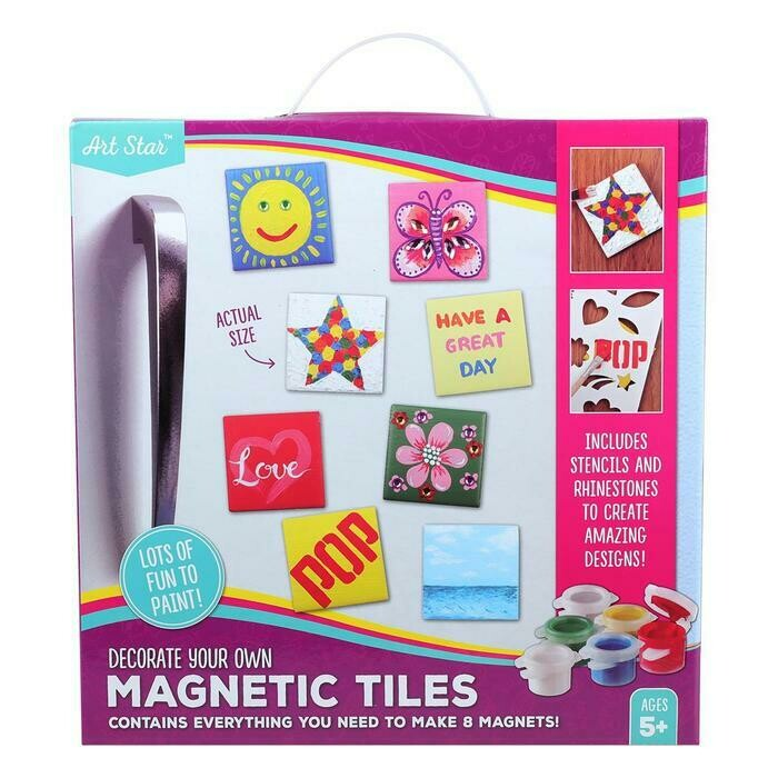 Art Star Decorate Your Own Magnetic Tiles Makes 8