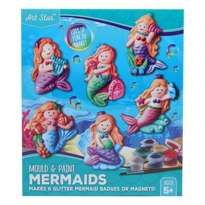 Art Star Mould and Paint Plaster Mermaid Kit Makes 6