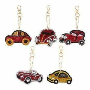 Diamond Painting Keychains - CARS - Set of 5 - (delivery 4 - 6 weeks)