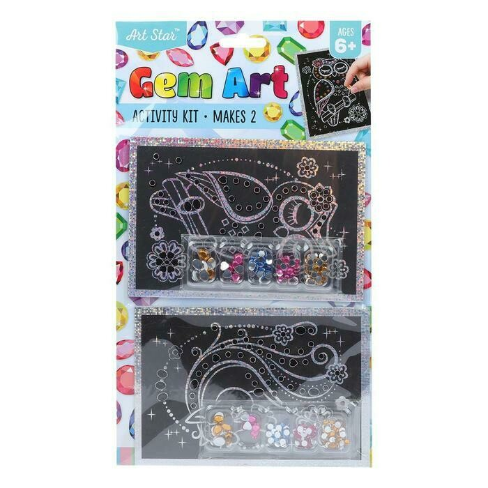 Artstar Gem Art Activity Kit Assorted Designs 2 Pack
