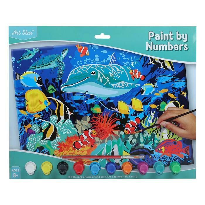Art Star Paint By Numbers Dolphin Reef Large