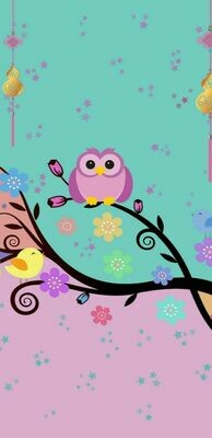 Pink Owl Yellow Bird- Full Drill Diamond Painting - Specially ordered for you. Delivery is approximately 4 - 6 weeks.