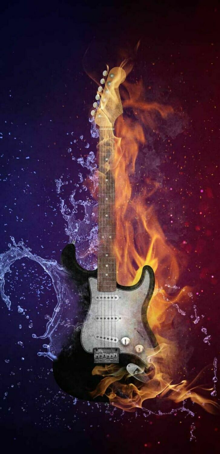 Fire Water Guitar  - Full Drill Diamond Painting - Specially ordered for you. Delivery is approximately 4 - 6 weeks.