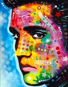 Pop Art Elvis - Full Drill Diamond Painting - Specially ordered for you. Delivery is approximately 4 - 6 weeks.