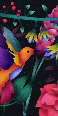 Little Colourful Bird - Full Drill Diamond Painting - Specially ordered for you. Delivery is approximately 4 - 6 weeks.