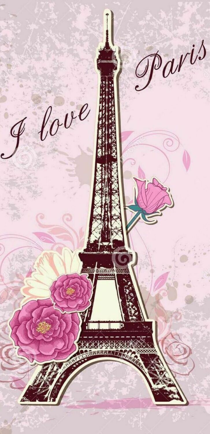 I Love Paris- Full Drill Diamond Painting - Specially ordered for you. Delivery is approximately 4 - 6 weeks.