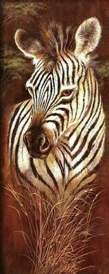 Wild Mothers Zebra - 30 x 75cm - Full Drill (Square), Diamond Painting Kit - Currently in stock