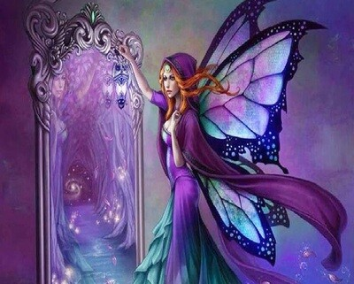 Purple Fairy - 40 x 50cm Full Drill (Round), Diamond Painting Kit - Currently in stock