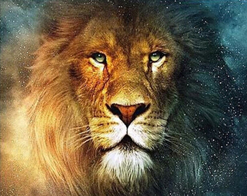Lion - 40 x 50cm Full Drill (Round), Diamond Painting Kit - Currently in stock