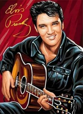 Elvis with Guitar - 40 x 50cm Full Drill (Round), Diamond Painting Kit - Currently in stock
