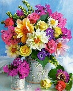 Vase of Pretty Flowers - 40 x 50cm Full Drill (Square), Diamond Painting Kit - Currently in stock