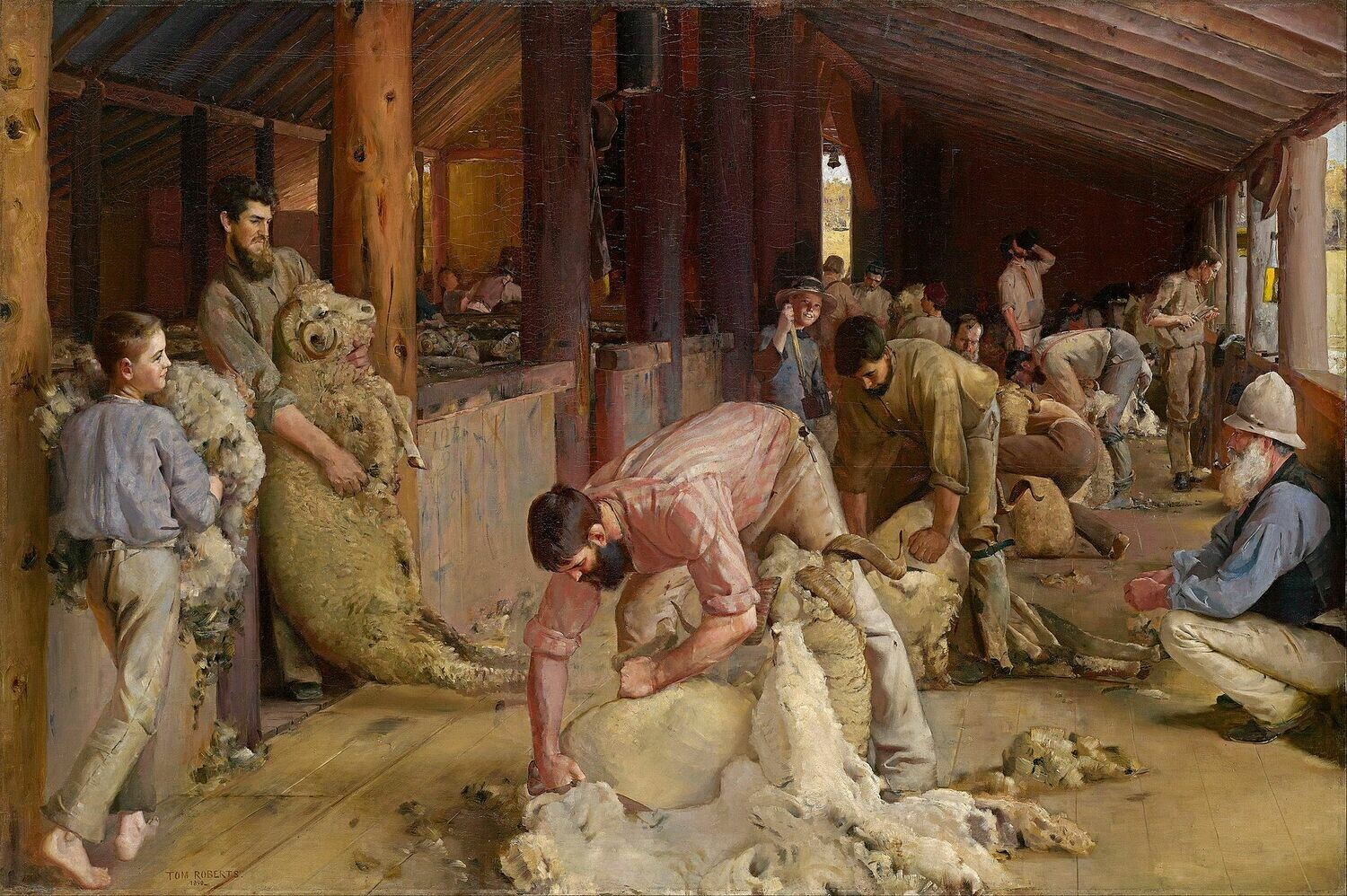 Shearing the Rams - 61 x 91.5cm (poster size) Full Drill (Round) Diamond Painting Kit - Currently in stock