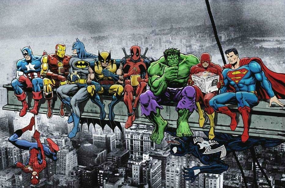 All the Heroes - 61 x 91.5cm (poster size) Full Drill (square) Diamond Painting Kit - Currently in stock