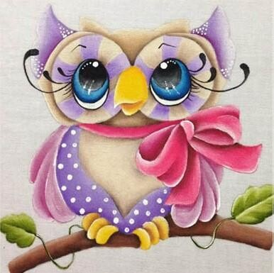 Little Owl 3 - 30 x 30cm Full Drill (Round) Diamond Painting Kit - Currently in stock