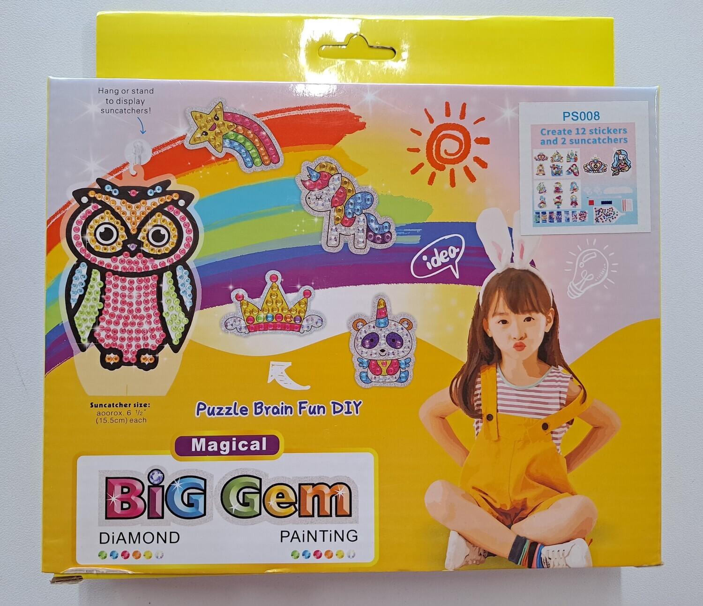 Big Gem - Diamond Painting Suncatcher and Stickers Kit