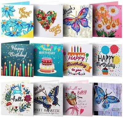 Greeting Cards - Set of 12 - DIY Diamond Painting