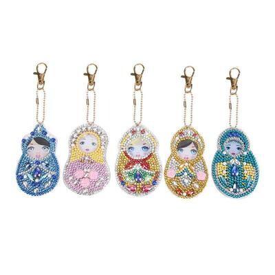 Diamond Painting Keychains - Emblems QC014 - Set of 5