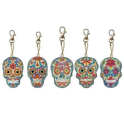 Diamond Painting Keychains - Skulls YSK42 - Set of 5