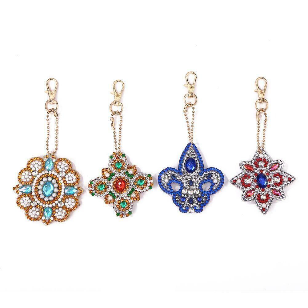Diamond Painting Keychains - Emblems QC014 - Set of 4