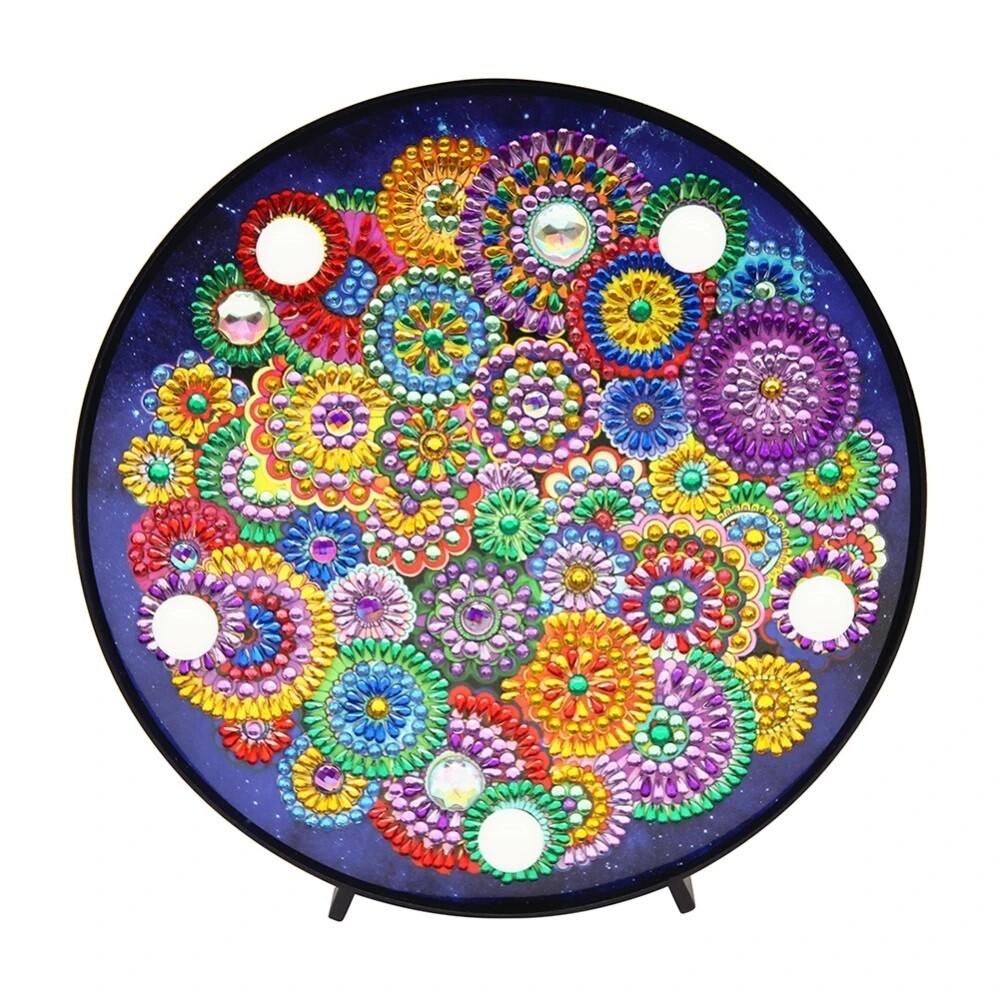 DIY Diamond Painting Nite Lite - Flower Pattern