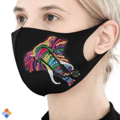 Face Mask - Elephant - DIY Diamond Painting